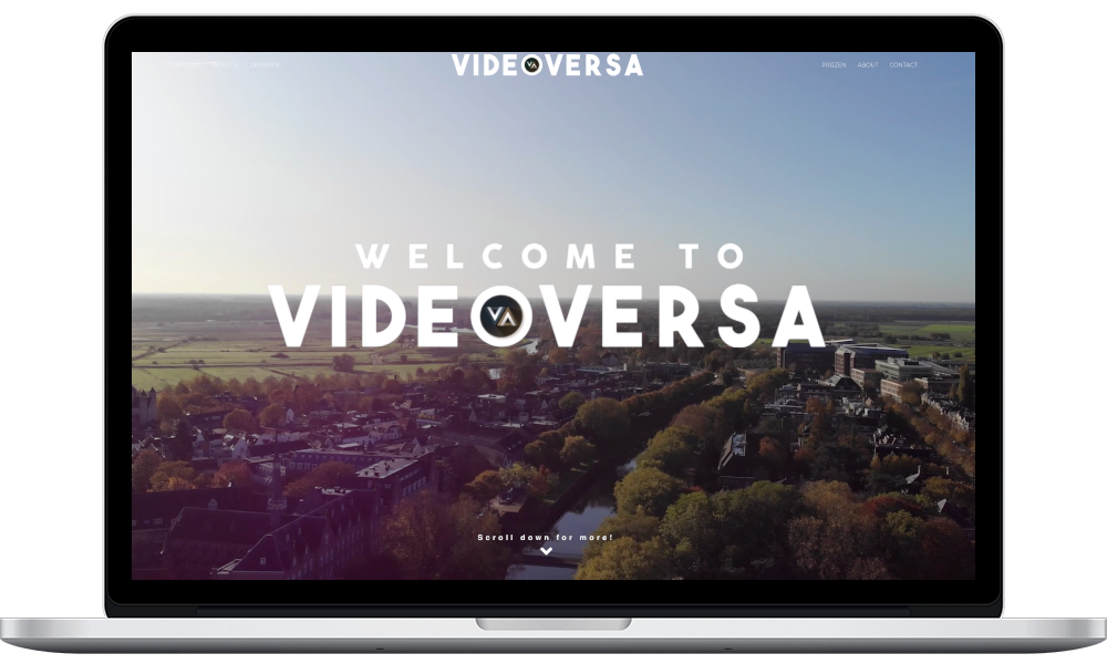 VideoVersa New Website Hero in Laptop