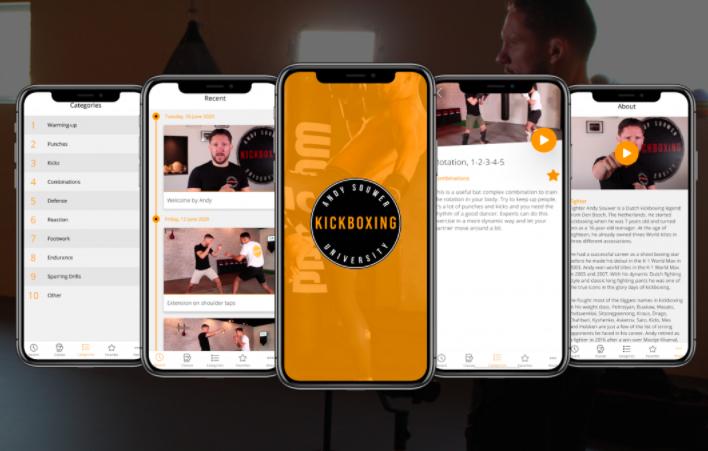 andy souwer kickboxing university app videoversa